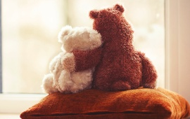 Cute Teddy Bear Couple Love