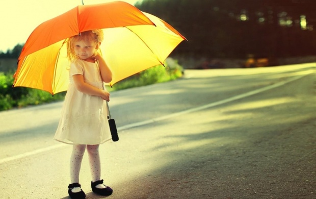 photo of girls with umbrellas № 22150