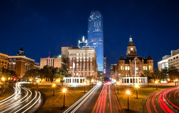 Dallas City Night Lights (click to view) HD Wide Wallpaper for Widescreen