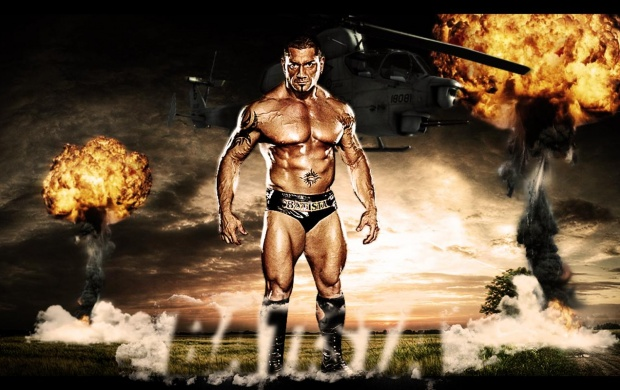 Dave Batista With Bomb Blast (click to view)