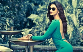 Deepika Padukone In Green Dress