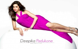 Deepika Padukone In Pink Dress