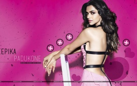 Deepika Padukone Pink Background
