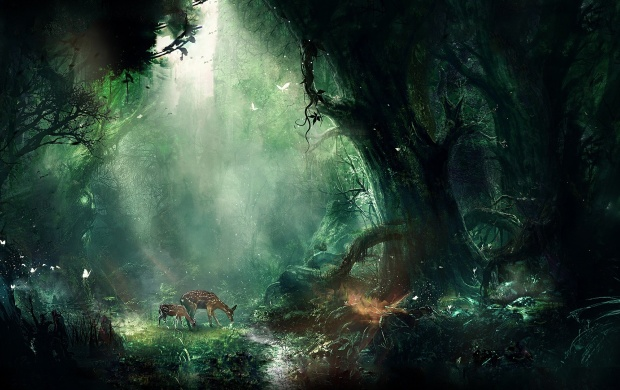 Deer In A Magic Forest (click to view)