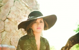 Demi Lovato Hot Black Hat