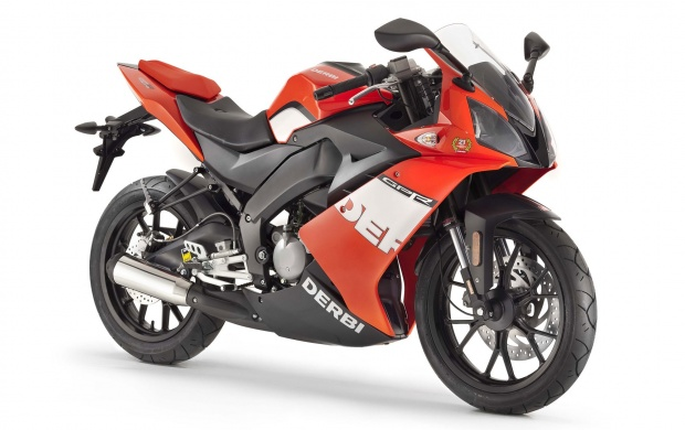Derbi GPR 50 Racing In Red Side Pose (click to view)