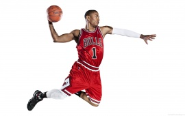 Derrick Rose Throwing The Ball