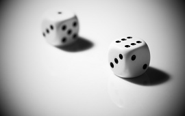 Dice Black and White Picture
