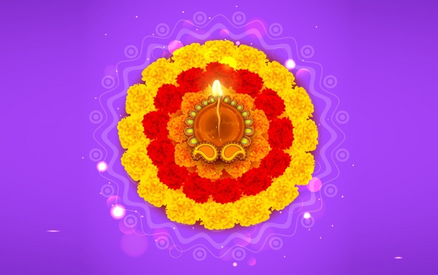 Diwali Flowers Rangoli (click to view)