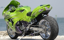 Dodge Green Motorcycle