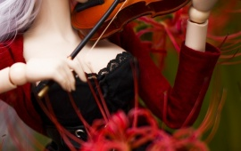 Doll Playing The Violin