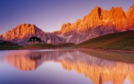 Dolomites Lake Reflection