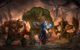 Dota 2 Dire Team Pudge Tidehunter Lich Sand King Terrorblade
