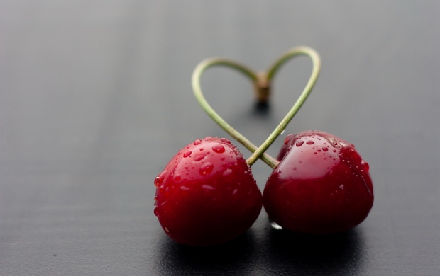 Drops On Cherry Fruit (click to view)
