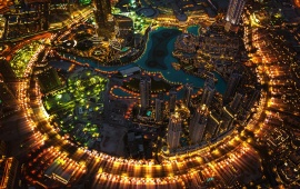 Dubai Burj Khalifa Tower Lights Night