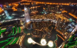 Dubai Night Light