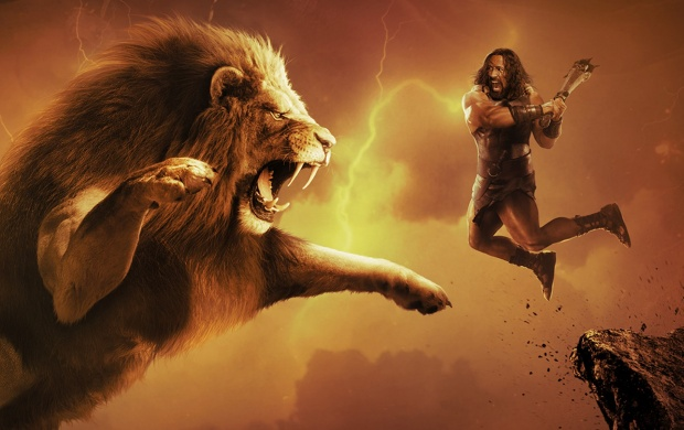 Dwayne Johnson Fights A Llion In Hercules (click to view)