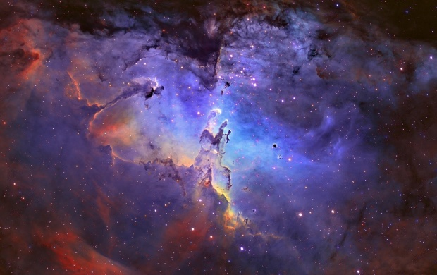 Eagle Nebula In Universe (click to view)