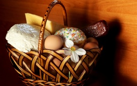 Easter Egg Basket And Flower