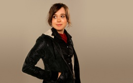 Ellen Page In Black Jacket