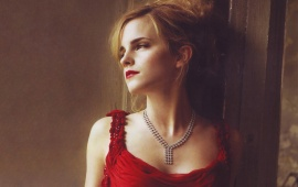 Emma Watson Hot In Red Dress