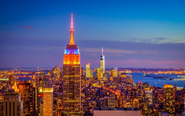 Empire State Building Blue Evening (click to view)