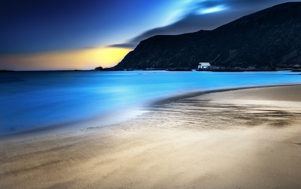 Empty Beach At Sunset (click to view)
