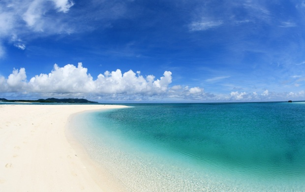 Empty Beach with White Sand (click to view)