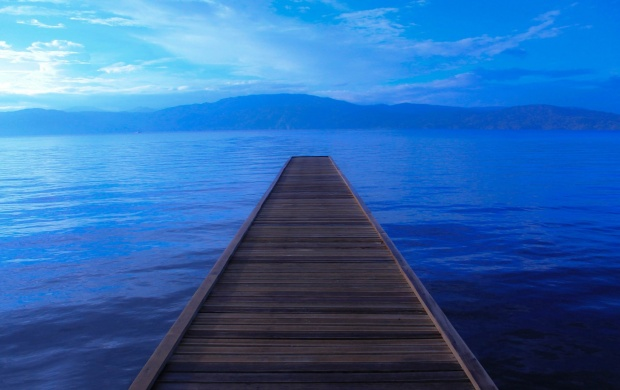 Empty Lake Pier (click to view)