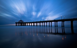 Empty Pier At Sunset