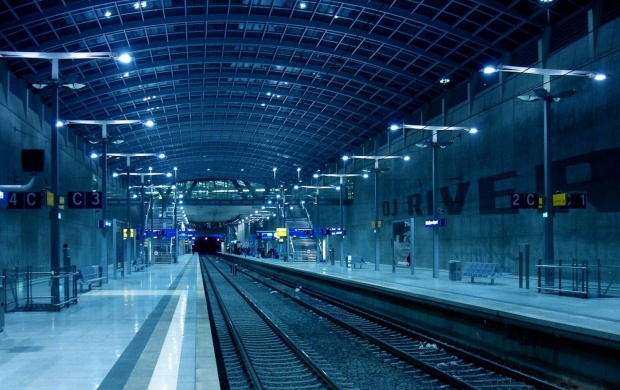 Empty Train Station At Night (click to view)