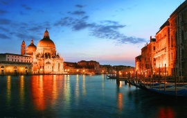 Evening In Venice City At Italy