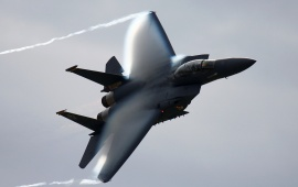 F-15 Contrail Fighter Jet Wing