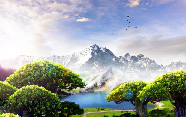 Fantasy Mountain View (click to view)