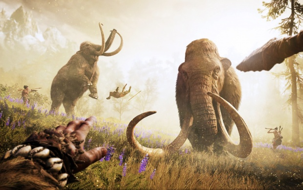Far Cry Primal Hunting Mammoth Third Person (click to view)