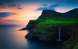 Faroe Islands Vagar Gasadalur