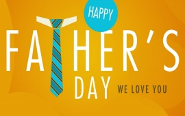 Father's Day Yellow Background