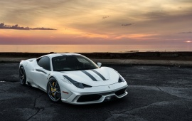 Ferrari 458 Speciale Enjoying The Sunrise