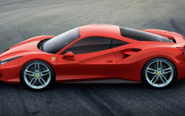 Ferrari 488 GTB 2016 Side View