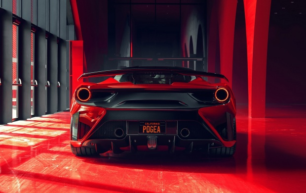 Ferrari 488 GTB From The Rear (click to view)