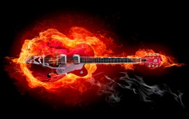 Fire Blazing Guitar