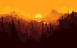 Firewatch Sunset Yellow
