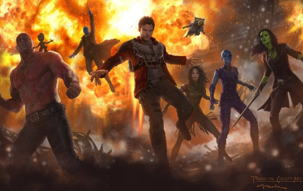 First Guardians Of The Galaxy Vol 2 Concept Art (click to view)