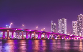 Florida Night Vice City Bridge