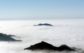 Fog on the High Hill Mountains