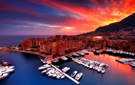 Fontvieille At Sunset Captured Monaco
