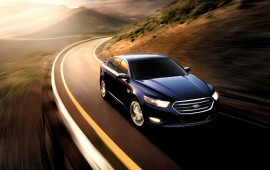 Ford Taurus SHO Black Car 2015