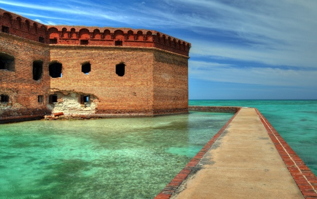 Fort Jefferson in Florida (click to view)