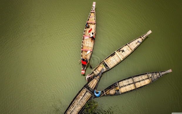Four Boats Viewed from Above (click to view)