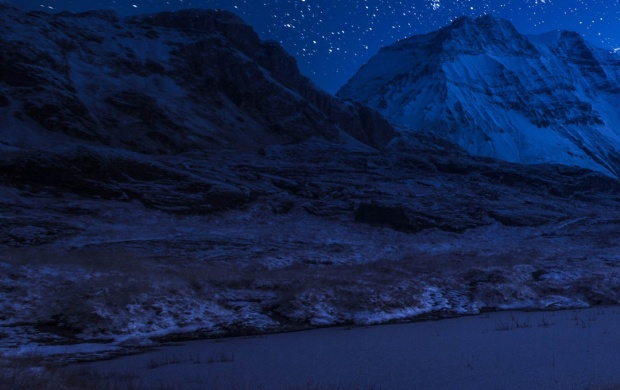 France Mountains Alps Night Stars (click to view)